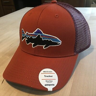 5c9a3b1d569f8 Patagonia Fitz Roy Trout Trucker Hat New With Tags - Roots Red - 2017 Sold  Out