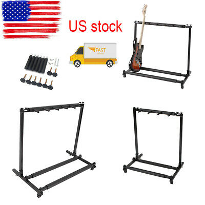 Guitar Stand 3 5 7 9 Holder Folding Organizer Rack Stage Bass Acoustic Guitar US