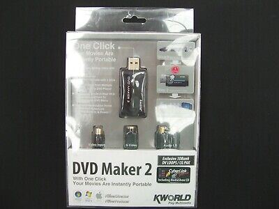 Kworld Xc4867 Dvd Maker 2 Usb Video Editing Kit Maker Capture Ipod Youtube Psp