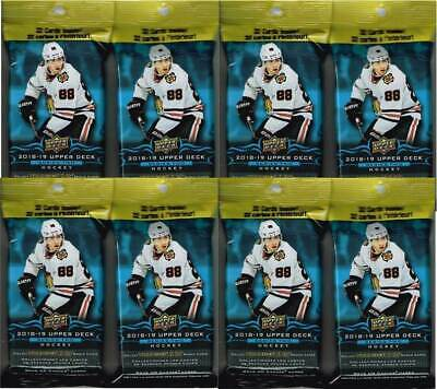 (8) 2018-19 Upper Deck Series 2 Hockey NHL Trading Cards 32c FAT PACK LOT - FS