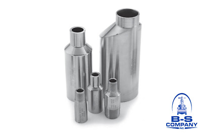 """SWAGE NIPPLE 2"""" x 3/4"""" S80 2205 Duplex Stainless Plain Both End Concentric USA"""