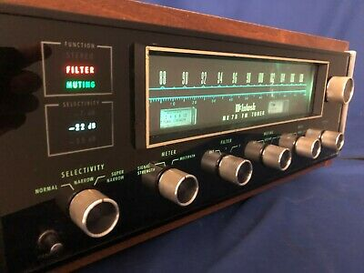 McIntosh MR78 Stereo FM Tuner -Excellent- Beautiful Wood Cabinet w/ Manual Copy