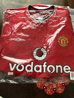 Manchester United Home Football Shirt 2000-2002 Size: Adults XL BNWT