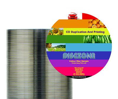 CD Duplication - 100 CD/DVD inkjet printed & duplicated - Bulk Packaged