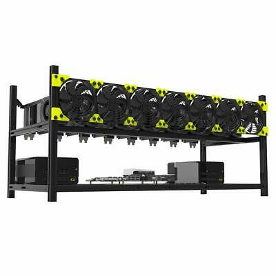 Professional 8 Gpu Miner Case Aluminum Stackable Mining Case Rig Open Air Frame