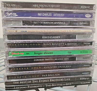 Lot Of 12 New Sealed Cds-Rock And Country-Elton John-Neil Young-Free Shipping