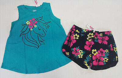 NWT Justice Girls LOL Surprise Top//Black Dolphin Shorts Size 10