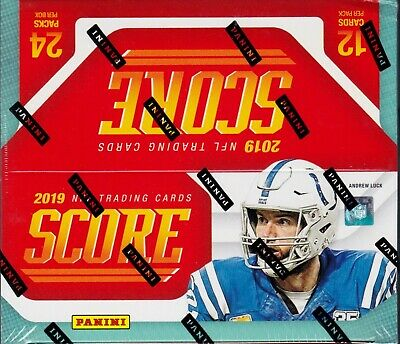 2019 Score Football sealed retail box 24 packs of 12 NFL cards