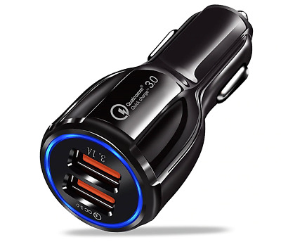 Chargeur Voiture Allume Cigare USB DOUBLE PORT Pour IPHONE SAMSUNG iPAD