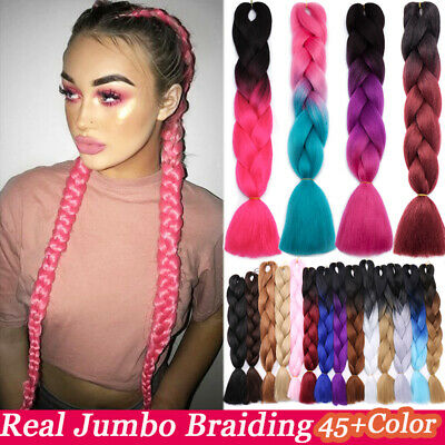 100% Real Natural Xpression 3-5X Braiding Hair Extensions Mix Gradient As Humans