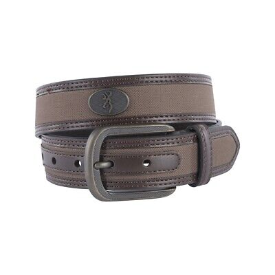 Browning Men's Leather Western Buck Ornament Belt - Brown - Size 36
