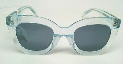 8902b405e8cf2 CELINE Marta Butterfly Sunglasses in Transparent Ice Blue CL40005F 74304-3