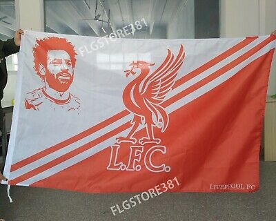Liverpool Fc Flag Banner 3X5ft You'll Never Walk Alone Mo Salah Fans Flag Banner