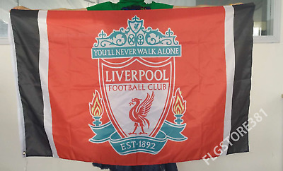 Liverpool Fc Flag Banner 3X5Ft You'll Never Walk Alone Champions League Flag