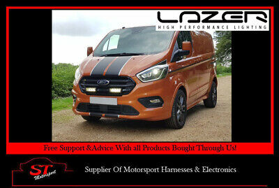 Lazer Lights Ford Transit Custom 2018+ Grille Kit With Triple-R 750