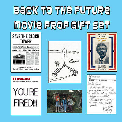 Back to the Future Movie Trilogy Prop McFly Time Machine Clock Tower Flyer Flux