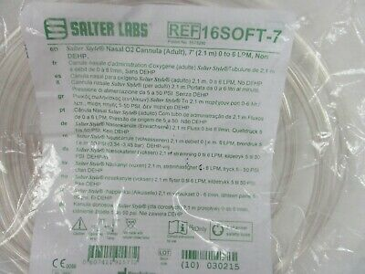Salter Labs Nasal O2 Cannula Adult Ref 16 Soft-7 Tube Oxygen Tubing 7 Ft