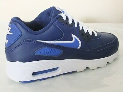 factory authentic 61999 b46eb Nike Air Max 90 Leather Boys Shoes Trainers Uk Size 4 - 5.5 833412 409