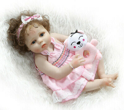 "Washable Dolls 22"" Full Body Silicone Reborn Baby Toddler Dolls Realistic Gifts"