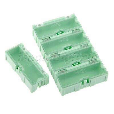 5Pcs/Set Green Mini Supply Electronic Component Parts Case Storage Box Organizer
