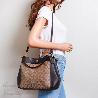 MFSRP $425 Coach F28934 IML7C  Signature Leather Small LEXY Shoulder Bag
