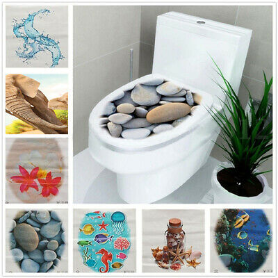 3D Toilet Seat Wall Sticker Art Decals Mural Home Bathroom DIY Decor Removable