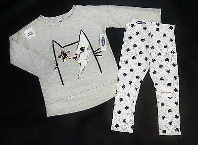 NWT Old Navy Girls Size 12 18 Months 2t 3t 4t Rocker Cat Tunic Top & Leggings