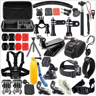 49-In-1 Sport Camera Hiking Skiing Cycle Accessories Bundle Kit For Go Pro M6F5