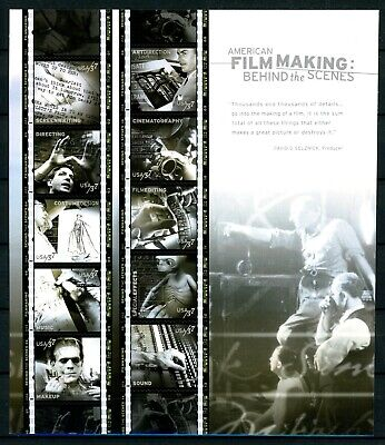 American Film Making Complete Sheet of 10 S/A MNH $.37 Stamps Scott's 3772
