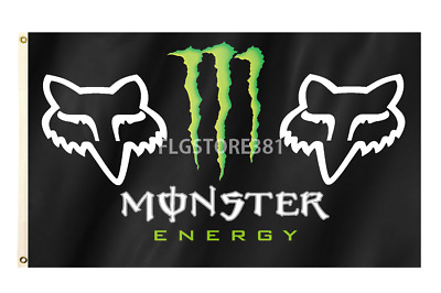 Fox Racing Flag Banner 3X5Ft Energy Drink New Flag Banner Wall Decor