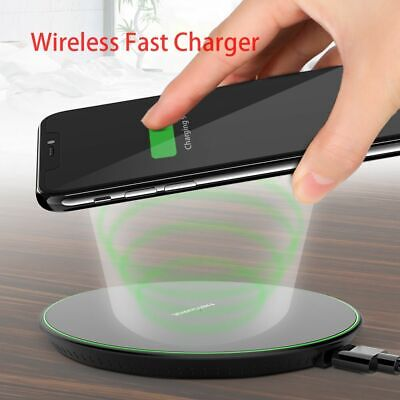 For Apple iPhone X 10 8 Plus+QI Wireless Fast Charger Charging Pad Mat Plastic