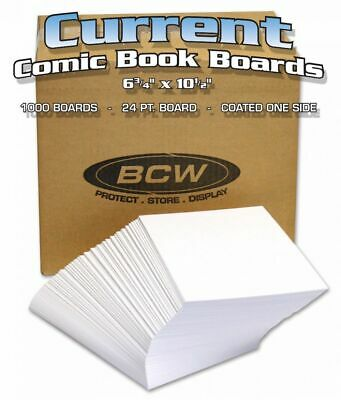 1000 BCW Comic Book Backing Boards - Backer Board - CURRENT SIZE - Bulk