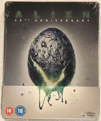 Alien 40th Anniversary 4K Ultra HD Steelbook - UK Exclusive Ltd Edition Blu-Ray
