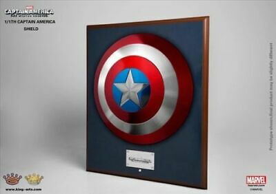 King Arts 1/1 MPS004 Avengers Captain America Metal Shield Wearable-Wall Hanging