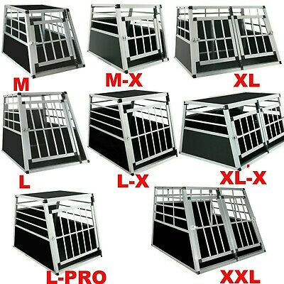 ALU Hundebox Hunde transportbox Autotransportbox Alubox Gitterbox reisebox