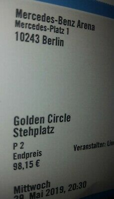 Backstreet Boys Berlin 29.05.2019 Stehplatz Golden Circle Ticket Eintrittskarte