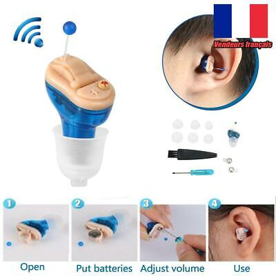Mini aides auditives intra-auriculaires Aids CIC Small Sound Amplifier Enhancer