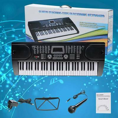 61 Leucht Tasten Keyboard E-Piano Lern Klavier 255 Sounds & Rhythmen MP3