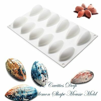 3D Quenelle Shaped Silicone Dessert Mold Mousse Cake Cheesecakes Baking Pan
