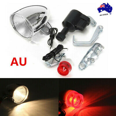 3W 6V  Friction Generator Head Tail Light Lamp For Dynamo Bicycle Motorized Bike