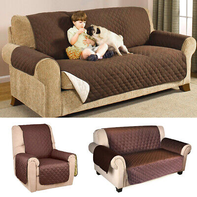1/2/3 Seater Sofa Protector Cover Anti-Slip Quilted Couch Recliner Chair Pet Kid