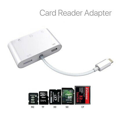 SD CF TF XD M2 Card Camera Reader Adapter for Apple iPad Pro iPhone XS iOS12