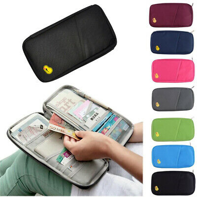 Travel Bag Wallet Purse Document Organiser Zipped Passport Tickets ID Holder UK