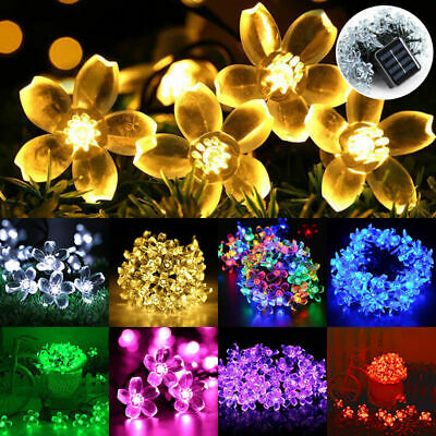 50 LED Solar String Lights Flower Bulbs Solar Garden Waterproof Decorative Light