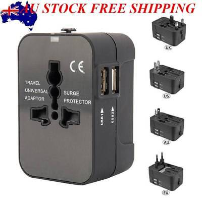 2X Universal Charger Travel Adapter 2 USB Power Plug Converter Socket