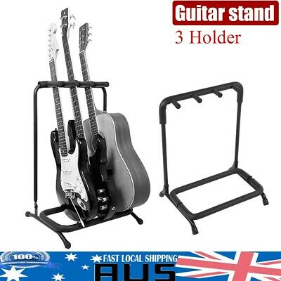 Guitar / Instrument Rack Stand for 3 Acoustic-Electric-Bass-Banjo Store Durable