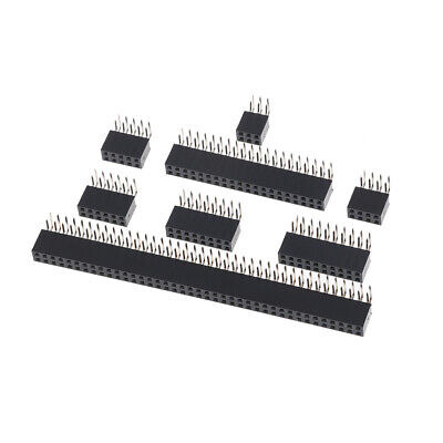 10Pcs 2.54mm double row female 2~40P PCB board right angle pin socket connect UQ