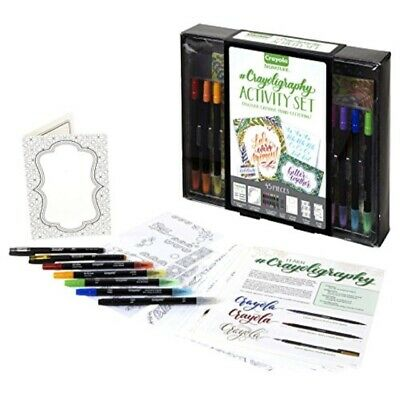 Crayola Beginner Hand Lettering Kit with Tutorials, Easier Than Calligraphy, Mo
