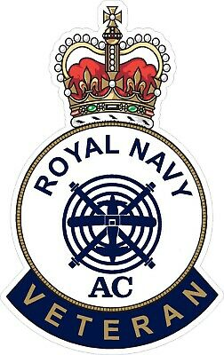 Royal Navy Aircraft Controllers Branch Veteran Sticker Uk - Cars - Vans