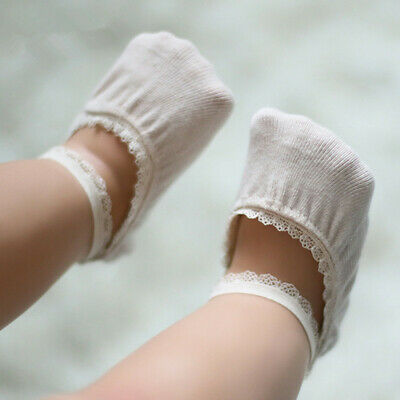 Invisible Non-Slip Ankle Sock Kid girl Infant Baby Cotton Low Cut Lace Sock New